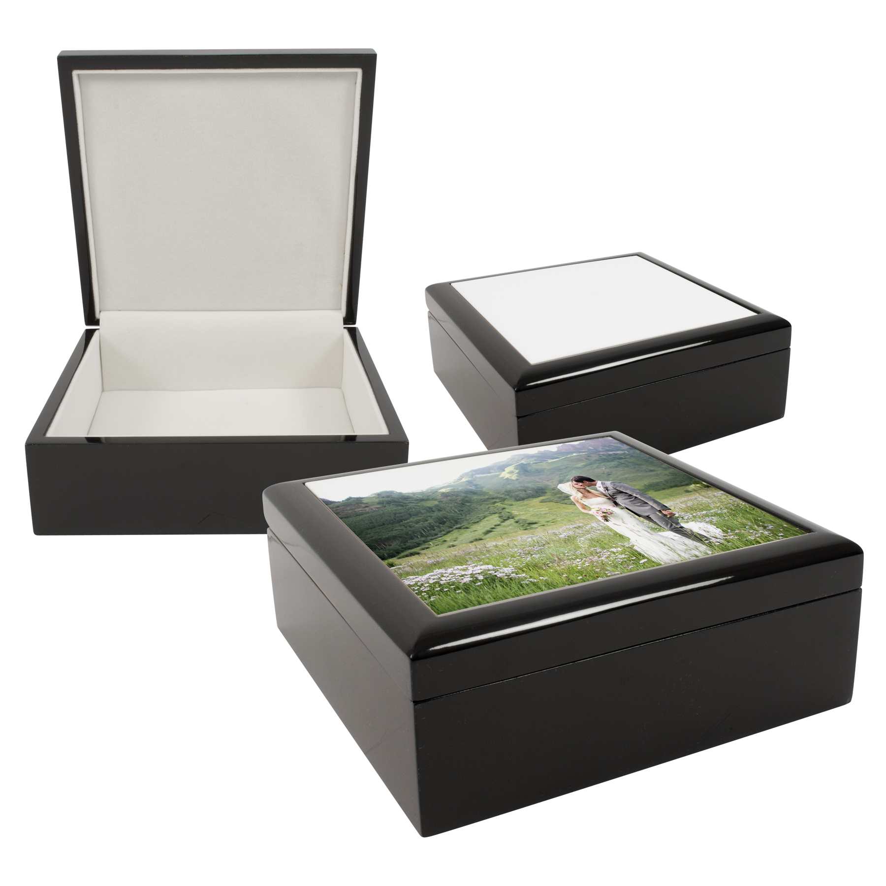 6 Quot X 6 Quot Jewelry Box With Sublimation Photo Tile Lid Insert