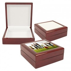 Jewelry box w/ photo tile lid